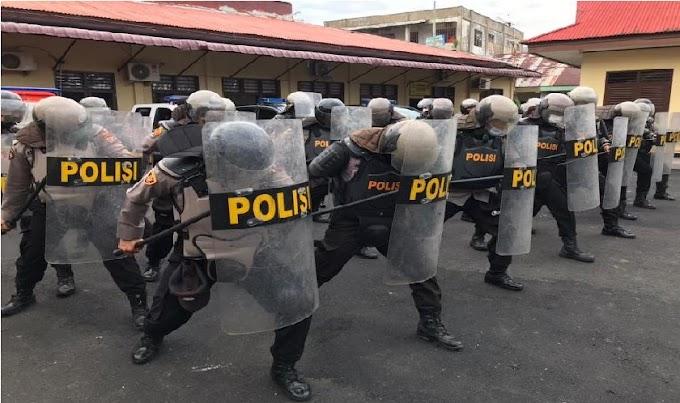 Polres Sibolga; Telah Dilaksanakan, Latihan Kesiap Siagaan Pleton Dalmas