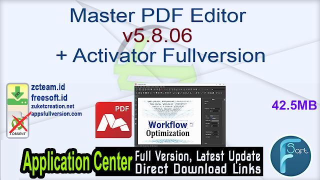 Master PDF Editor 5.8.06 + Activator Fullversion