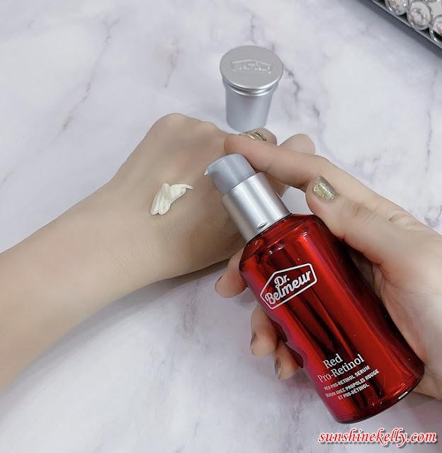 Dr. Belmeur Red Pro-Retinol Serum Review, Tough on Wrinkle, Gentle on Skin, Dr. Belmeur, The Face Shop, Beauty Review, Best Anti Wrinkle Serum, Beauty
