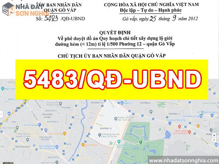 Quyết định số 5483/QĐ-UBND