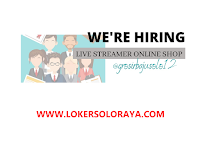Lowongan Kerja Live Streamer Online Shop di Grosirbajusolo