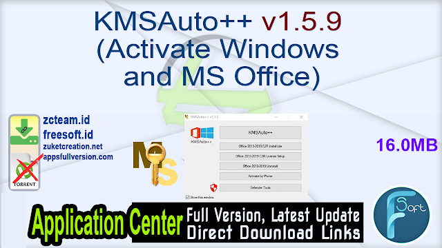 KMSAuto++ v1.5.9 (Activate Windows and MS Office)