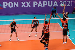 Jakarta, Sumut, Jatim dan Jateng Bertarung di 4 Besar Voli Indoor Putra PON XX