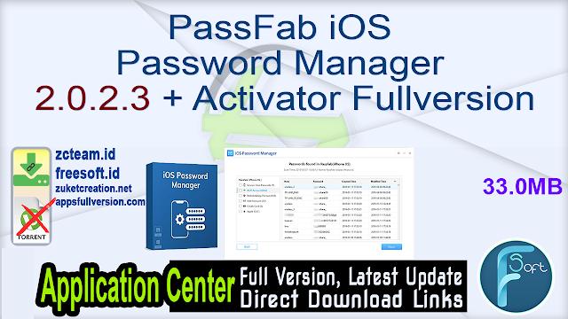 PassFab iOS Password Manager 2.0.2.3 + Activator Fullversion