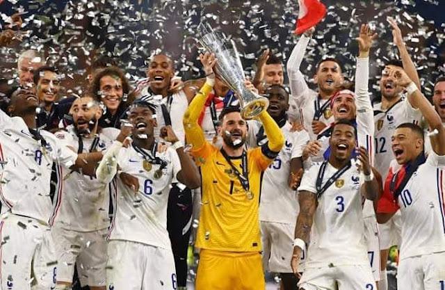 فرنسا تفوز على إسبانيا بثنائية َوتتوج بلقب دوري الأمم الأوروبية