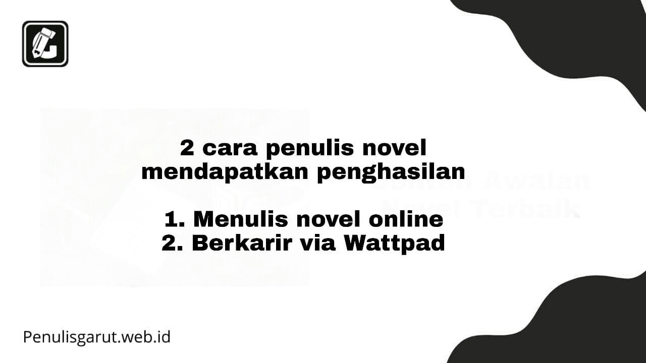Menjadi penulis novel
