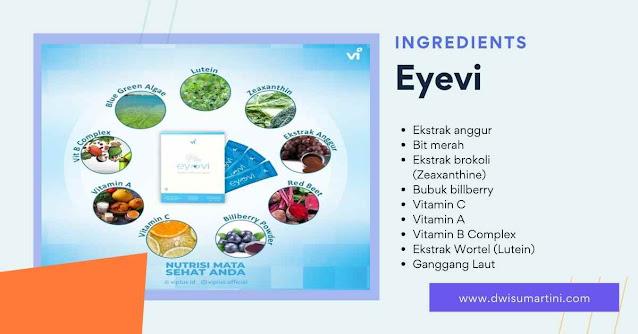 Ingredients, Eyevi, minuman nutrisi kesehatan aman