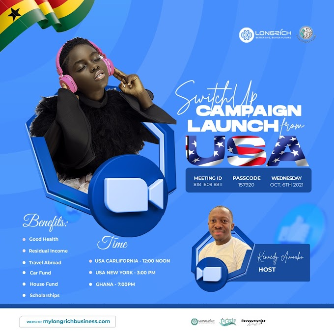 Join DJ SWITCH ON Zoom or Facebook tonight Wednesday 6th October, 2021.