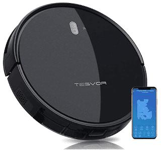 $116.39, Tesvor 4000Pa Robot Vacuum Cleaner