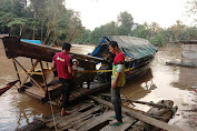 Polisi Landak Tertibkan Aktivitas PETI Di Sungai Kuala Behe