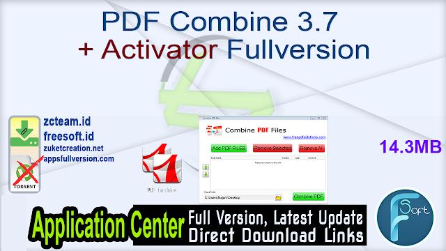 PDF Combine 3.7 + Activator Fullversion