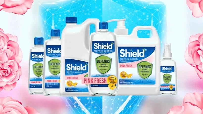 Shield+ Alcohol's sizes