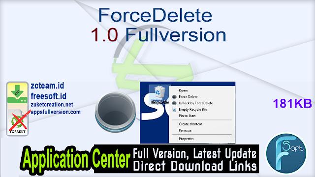 ForceDelete 1.0 Fullversion
