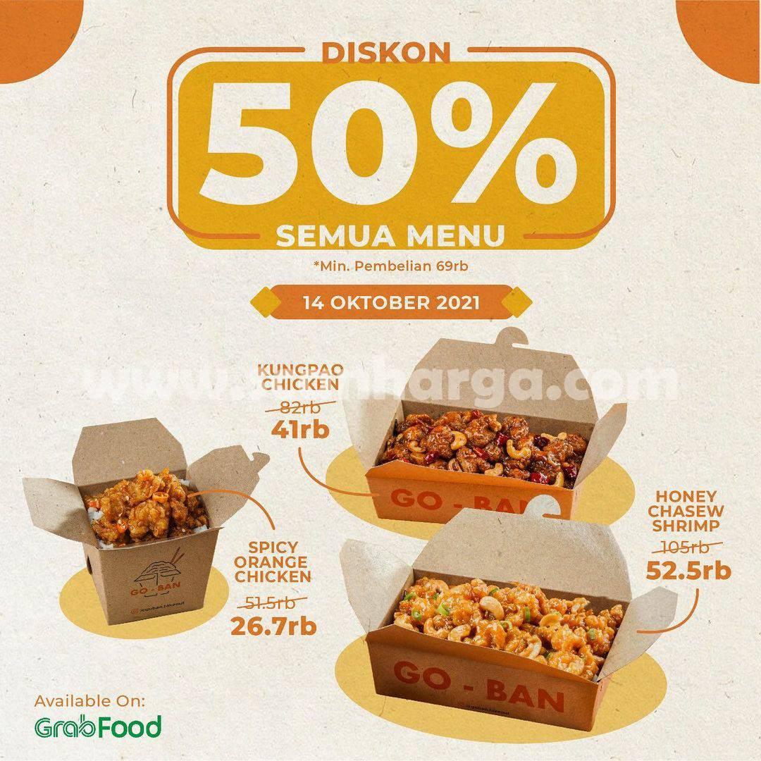 Promo GOBAN  DISKON 50% All Menu Via GRAFOOD