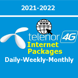 Telenor Internet Package Daily, Weekly and Monthly List