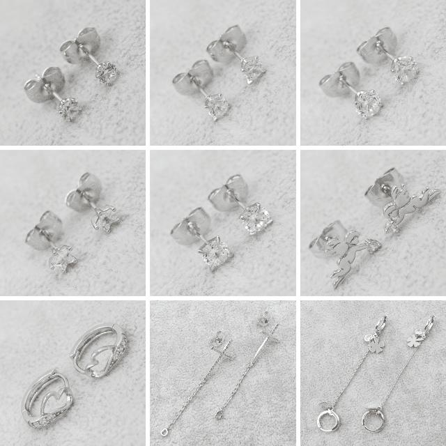 Серьги гвоздики (пусеты) Родий/Белое Золото Xuping Jewelry ™ B2B
