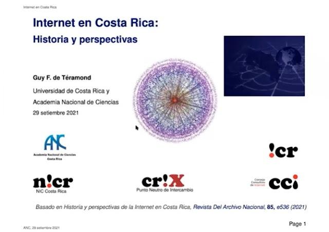 Presentación del Dr. Téramond en la Conferencia sobre Internet en Costa Rica: Historia y perspectivas