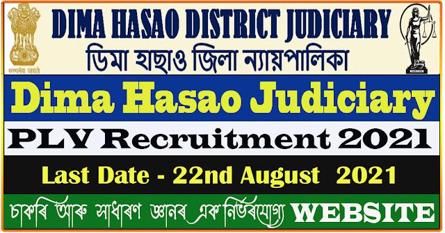 Dima Hasao Judiciary PLV Recruitment 2021