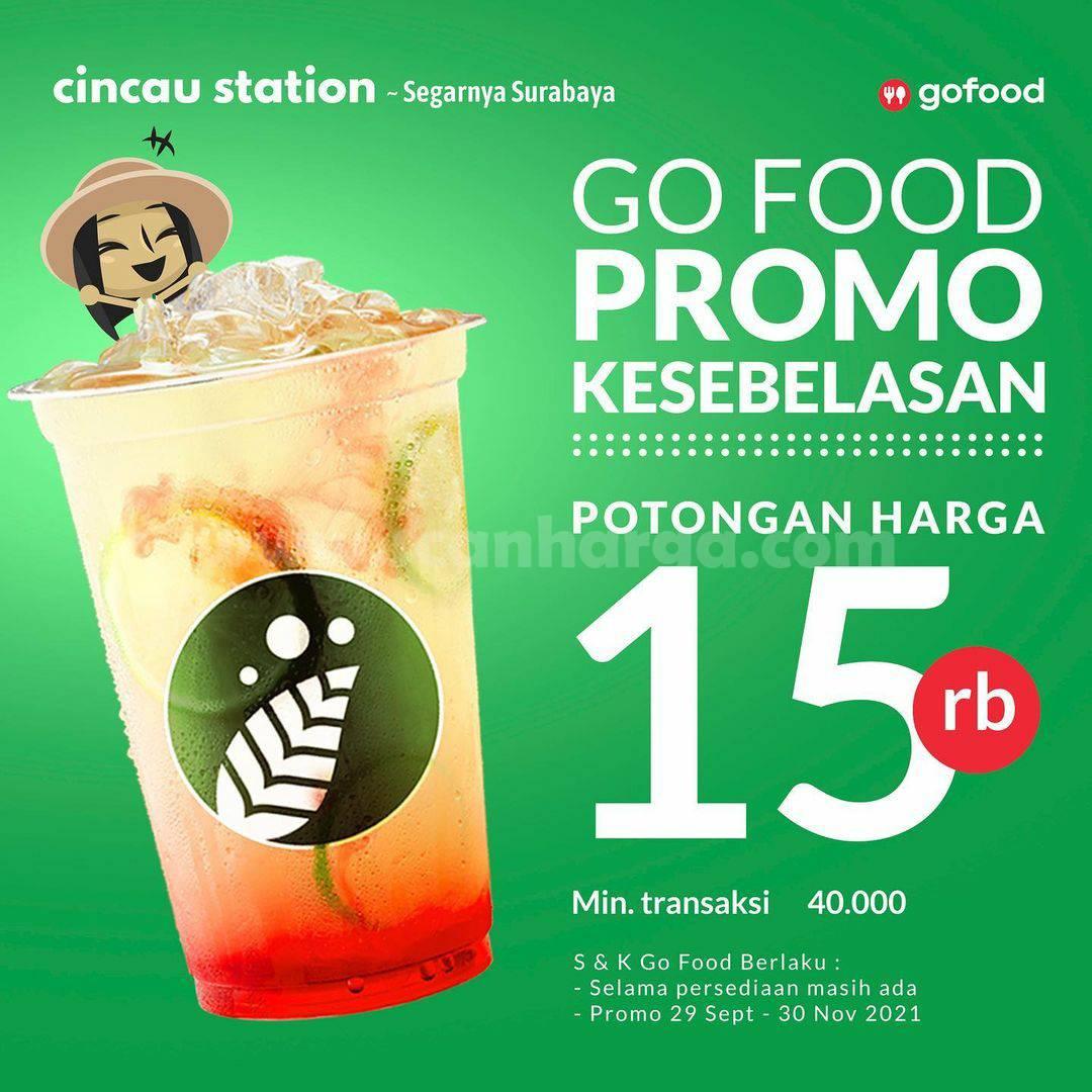 CINCAU STATION Promo KESEBELASAN – Diskon hingga Rp 15.000 via GOFOOD