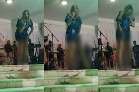"""بالفيديو / حالة غريبة توصيب فنانة """"مايا"""" تتسبب في أحراج أمام جمهورها 😢"""