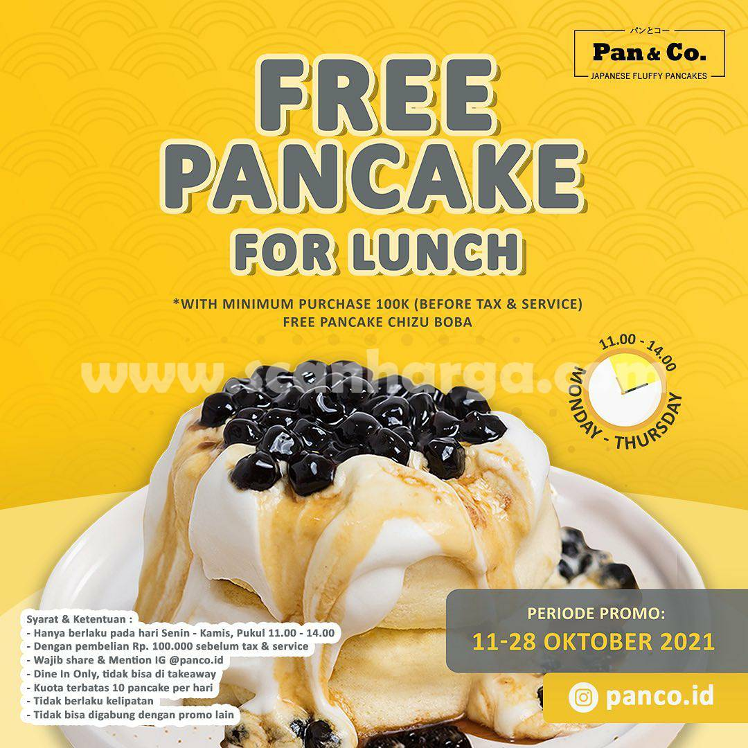 Promo Pan & Co Free Pancake For Lunch