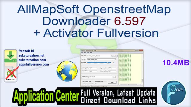 AllMapSoft OpenstreetMap Downloader 6.597 + Activator Fullversion