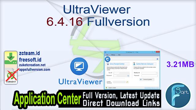 UltraViewer 6.4.16 Fullversion