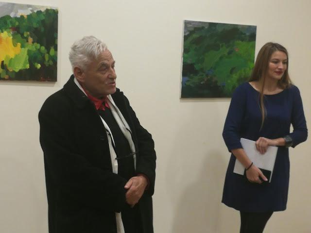 Са професором Факултета применених уметности, Душаном Русалићем