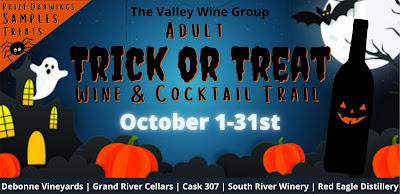Trick or Treat Wine Trail, debonne winery, ashtabula county, ohio