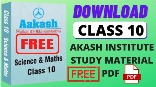 class 10 aakash institute study material pdf