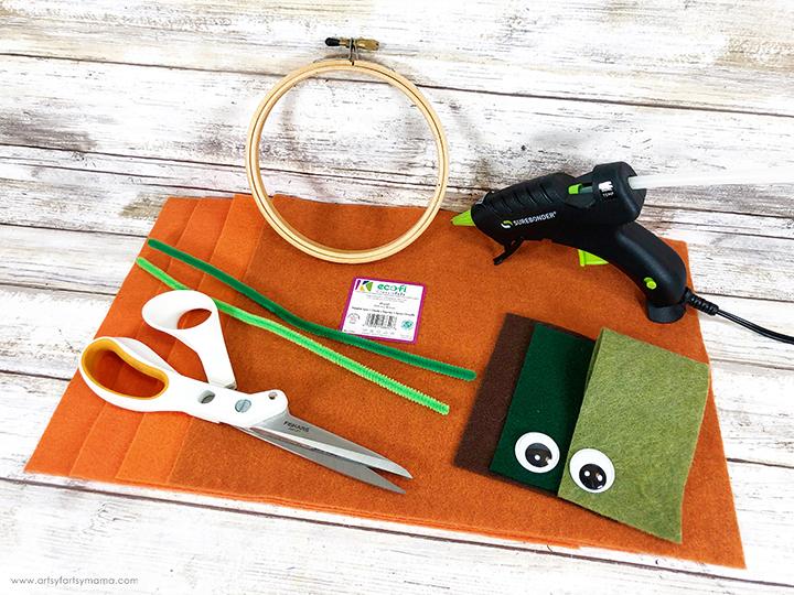 Felt Scrap Jack-O-Lantern Wreath Supplies