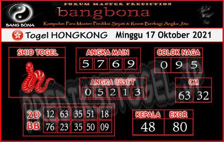 Prediksi Bangbona Togel Hongkong Minggu 17 Oktober 2021