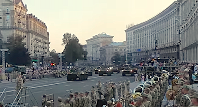 Репетиция парада на День Независимости вызвала транспортный коллапс в Киеве
