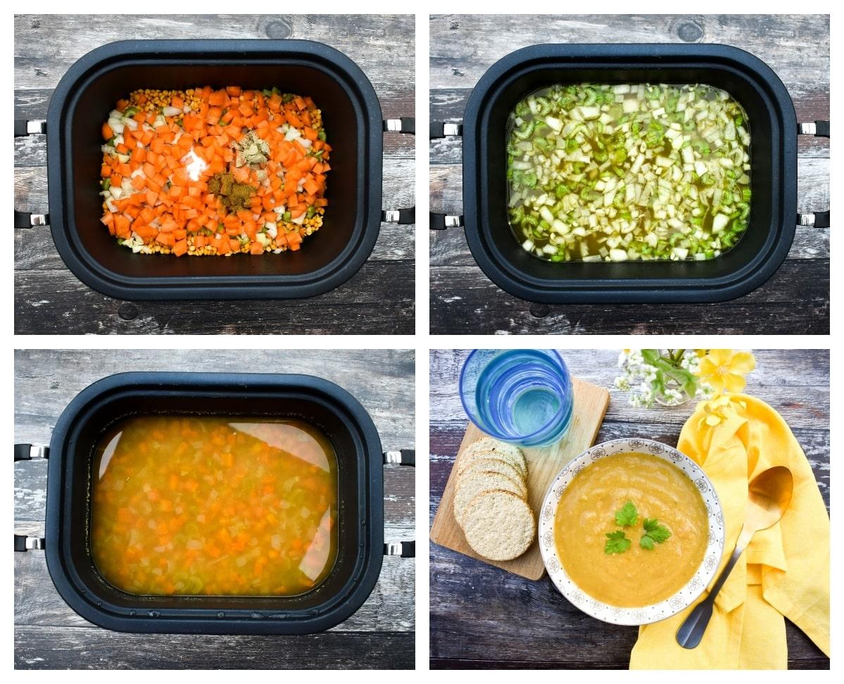 slow cooker split pea soup - step 2