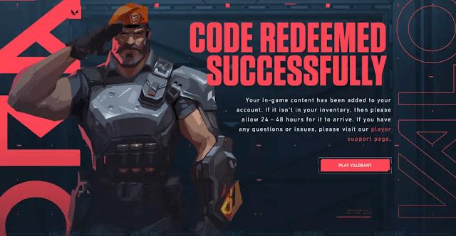 kode redeem valorant