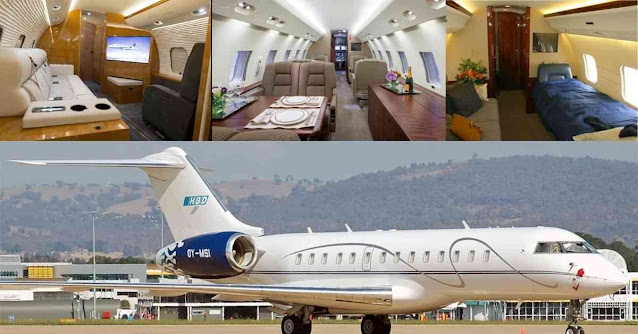 Most Luxurious Private Planes In The World - Bombardier BD 700 - Moniedism