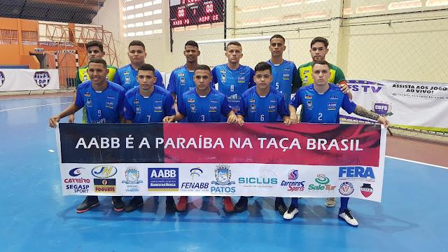 Com um empate e uma vitória equipe Sub-20 da AABB – Patos, se prepara para enfrentar seu 3º confronto na Taça Brasil