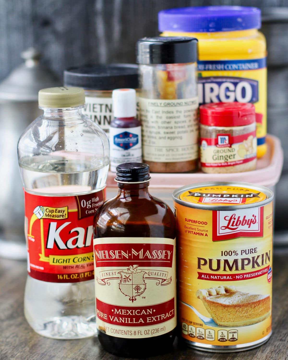 Pumpkin Spice Marshmallow ingredients.