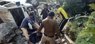 Accident on munsyari kausani route uttarakhand