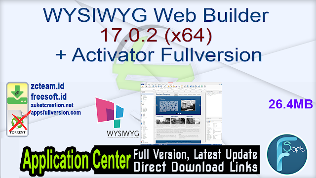 WYSIWYG Web Builder 17.0.2 (x64) + Activator Fullversion
