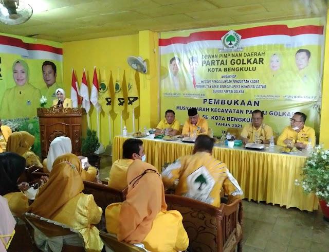 Muscam Partai Golkar Se Kota Bengkulu Bawa Misi Kemenangan Pemilu 2024