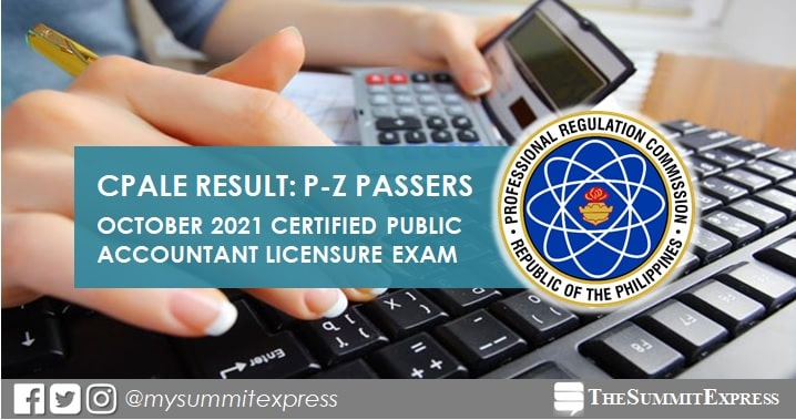 P-Z Passers: October 2021 Certified Public Accountant CPA board exam result