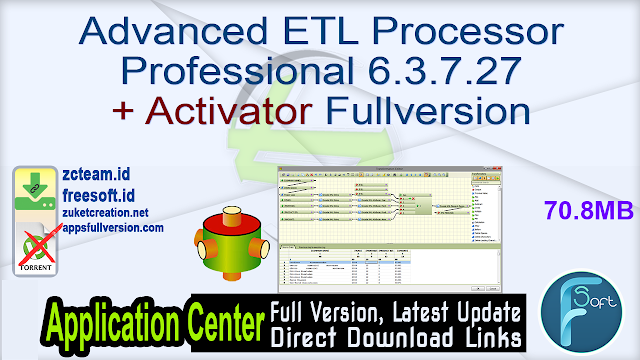 Advanced ETL Processor Professional 6.3.7.27 + Activator Fullversion