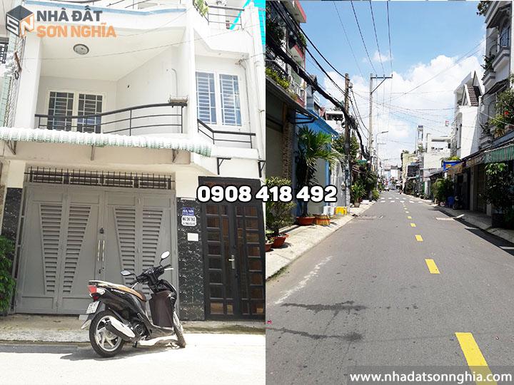 Thuê nhà nguyên căn Gò Vấp đường số 59 phường 14 giá 10 triệu