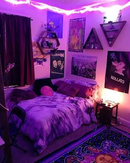 Purple Aesthetic Room