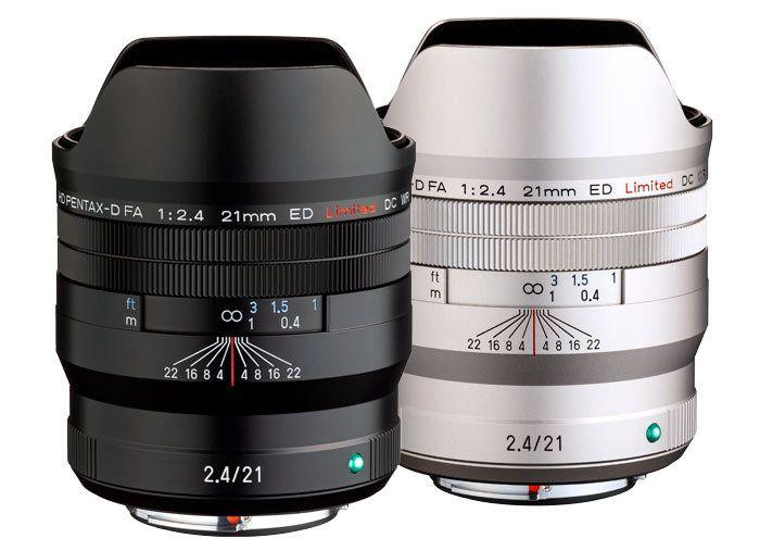 Объектив HD Pentax-D FA 21mm f/2.4 ED Limited DC WR в черном и серебристом корпусе
