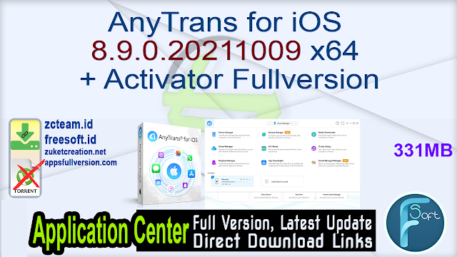 AnyTrans for iOS 8.9.0.20211009 x64 + Activator Fullversion