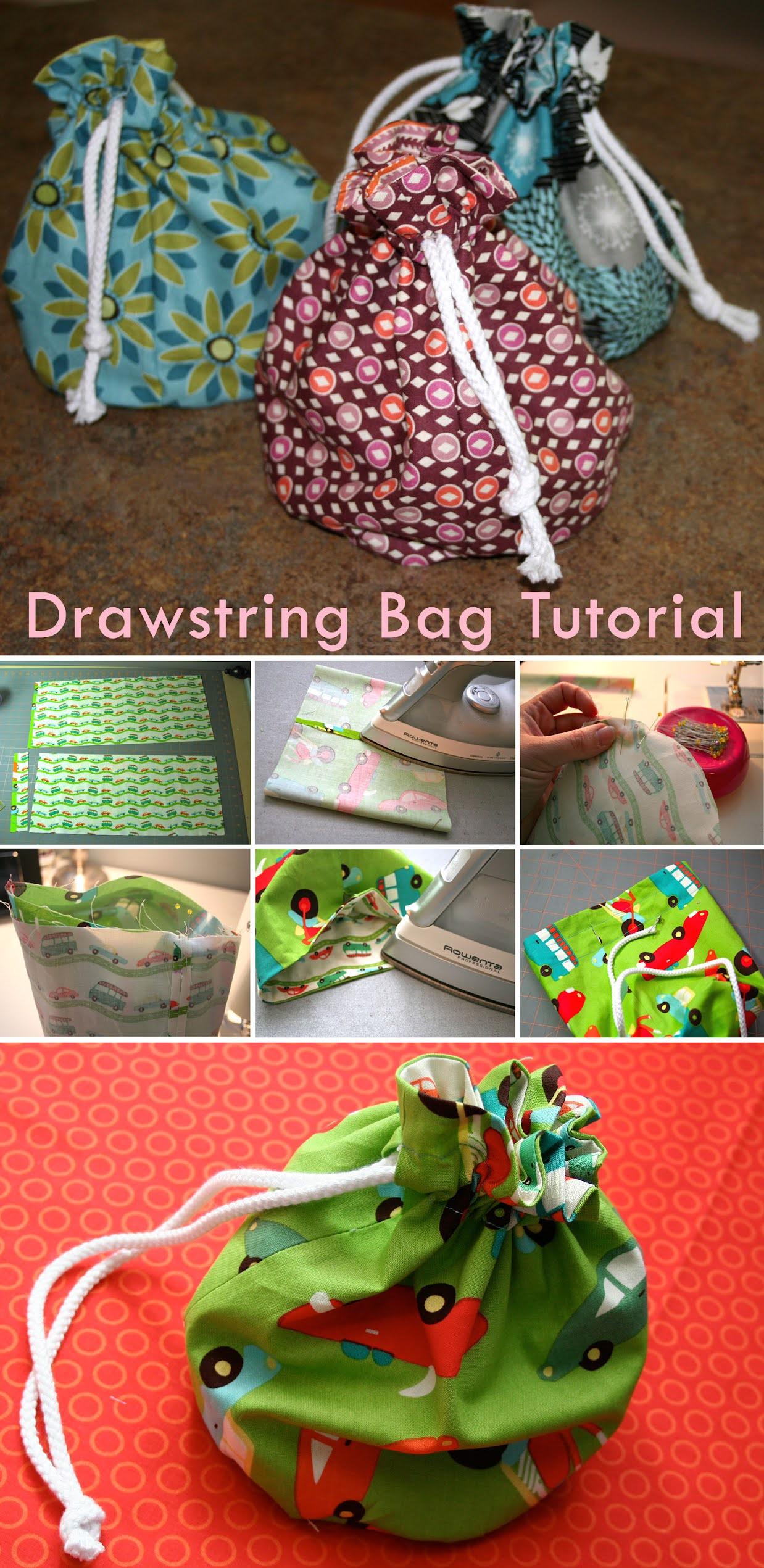 Drawstring Goodie Bags Tutorial