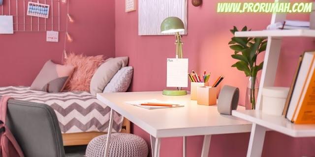 desain kamar anak cewek - nuansa warna pink