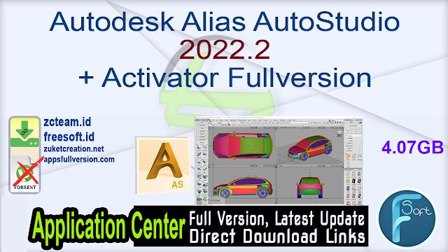 Autodesk Alias AutoStudio 2022.2 + Activator Fullversion